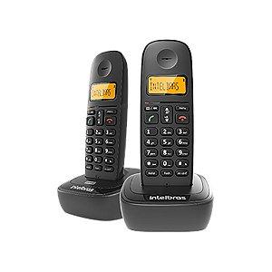 Telefone Intelbras TS2512 ID sem Fio Preto + 1 Ramal