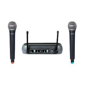 Microfone MXT UHF-202 Bastão Duplo sem Fio 54.1.118