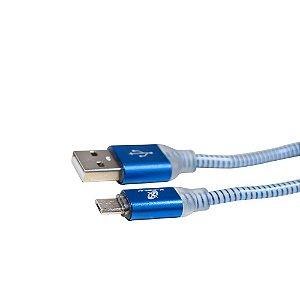 Cabo USB para Micro USB X-Cell XC-CD-22 2 Metros Azul