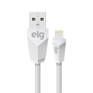 Cabo USB para iPhone ELG L810 Branco 1 Metro