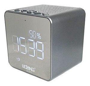 Radio Relogio Lelong LE-673 Cinza