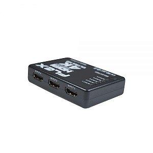Chave Seletora HDMI Flex FX-HUB-4K 5 Entradas x 1 Saida com Controle