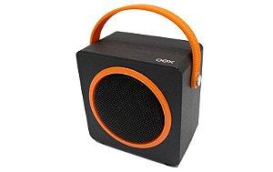 Caixa de Som OEX SK404 Music Box Preta/Laranja
