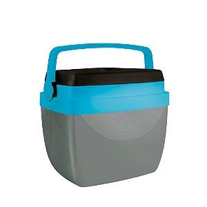 Caixa Térmica Mor 12 Litros Cinza/Azul/Preta