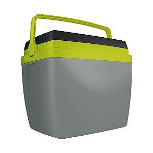 Caixa Térmica Mor 34 Litros Cinza/Verde/Preta