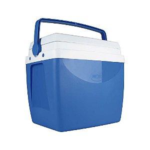 Caixa Térmica Mor 26 Litros Azul/Branca