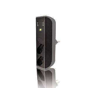 Adaptador de Força FL-USB21GBK com 2 USB