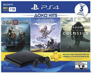 Console Playstation 4 1tb CUH-2115B God of War + Horizon Zero Dawn + Shadow of The Colossus