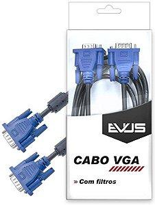 Cabo VGA Macho x Macho Evus C-003 1,5 metro
