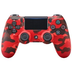 Controle Sem Fio Para Playstation 4 Sony Cuh-Zct2U Vermelho Camuflado