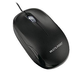 Mouse Multilaser MO255 com Fio Preto