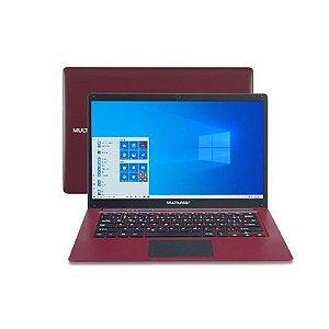 """Notebook Multilaser PC132 Atom Win 14"""" Vermelho"""