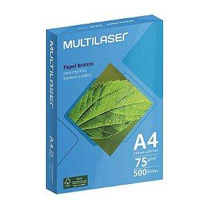 Papel Sulfite A4 Multilaser PE033 com 500 Folhas