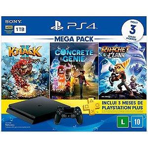 Console PlayStation 4 1Tb Cuh-2214B Knack II + Concrete Genie + Ratchet & Clank