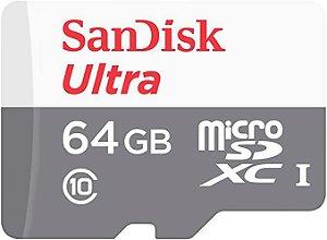 Cartão de Memoria Sandisk Micro SD 64gb Ultra Classe 10 100MB/s