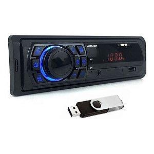 AUTO RADIO P3350 MULTILASER TRIP BT +PEN DRIVE 4GB