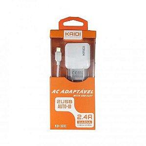 CARREGADOR KD-301C KAIDI TIPO-C 2 USB