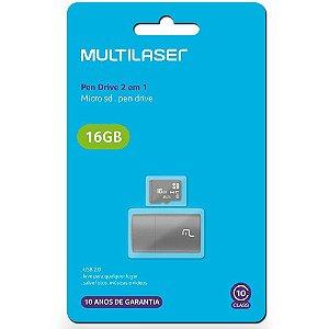 Leitor USB+Cartão Memória MultilaserMC162C10 16GB
