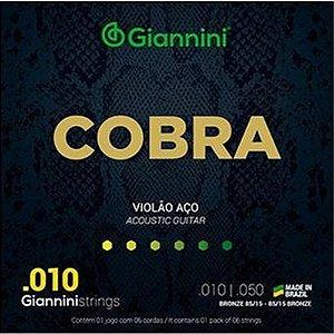 Encordoamento de Violão GEEFLE Giannini COBRA .010