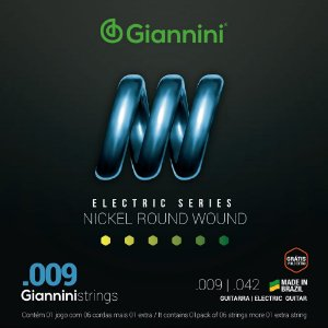 Encordoamento de Guitarra GEEGST9 Giannini de Aço