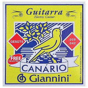 ENCORDOAMENTO P/ GUITARRA GESGT9 CANARIO ACO