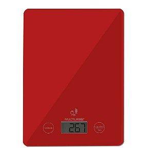 Balança de Cozinha Multilaser CE118 Vermelha 5kg