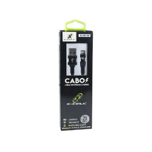 CABO IPHONE LIGHTNING XC-KT-14 X-CELL PRETO 1.2MT