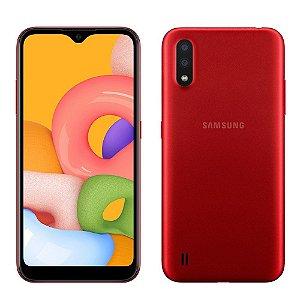 Smartphone Samsung Galaxy A01 32GB A015 Vermelho