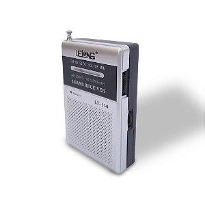 Rádio Portátil Lelong LE-650 AM/FM Prata