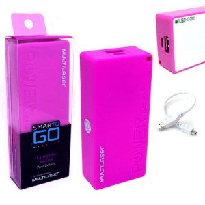 POWER BANK CB097 MULTILASER ROSA