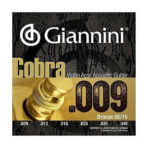 Encordoamento de Violão Giannini Cobra GEEWAK Aço