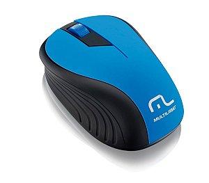 Mouse sem Fio Multilaser MO215 1200DPI Azul