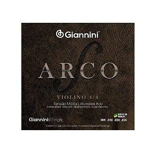 Encordoamento para Violino Giannini Aço GEAVVA