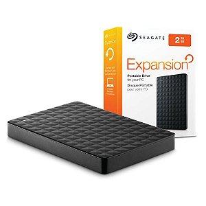 HD Seagate Externo Portátil 2TB Preto STEA2000400