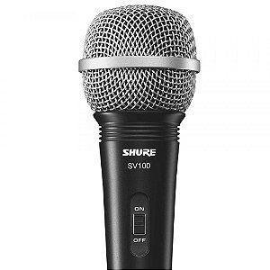 Microfone com Cabo Shure SV 100