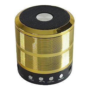 Midi Box Mini Speaker WS-887 Dourada 5W