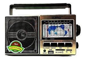 Rádio Lelong LE-604 AM FM 3W 11Faixas