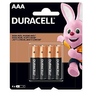 Pilha Alcalina AAA MN2400B4 Duracell com 4