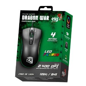 Mouse Gamer com Fio ELG MGDW Dragon War 2.400DPI