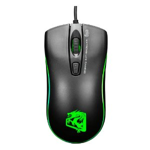 MOUSE GAMER MGDW ELG DRAGON WAR C/FIO PRETO/VERDE