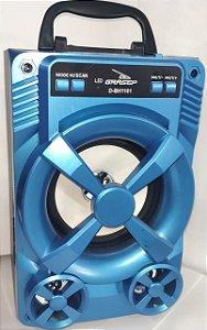 Caixa de Som D-BH1101 Grasep Azul 8W