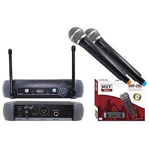 Microfone UHF-202 MXT Duplo sem Fio 54.1.118.