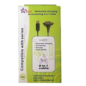 CABO CARREGADOR CONTROLE XBOX 360 FR-309 FEIR