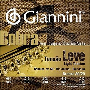 Encordoamento para Viola CV82L Giannini Cobra Aço