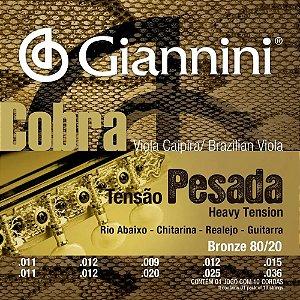 Encordoamento Aço para Viola Cobra CV82H Giannini