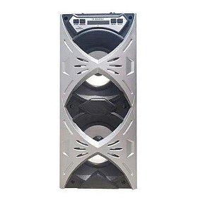 Caixa de Som Grasep D-BH4202 Prata