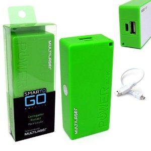 POWER BANK CB097 MULTILASER VERDE