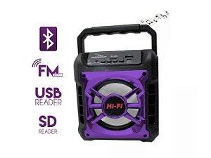 Caixa de Som Bluetooth Grasep D-S5 Roxa 10W