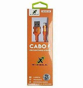 Cabo Iphone Lightning XC-KT-14 X-Cell Laranj 1.2mt