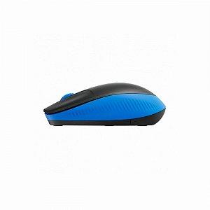 Mouse sem Fio Logitech M190 1000DPI Preto e Azul